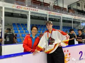 球员聚焦   郑恩来:愿为中国冰球效力,盼达到姥姥高度