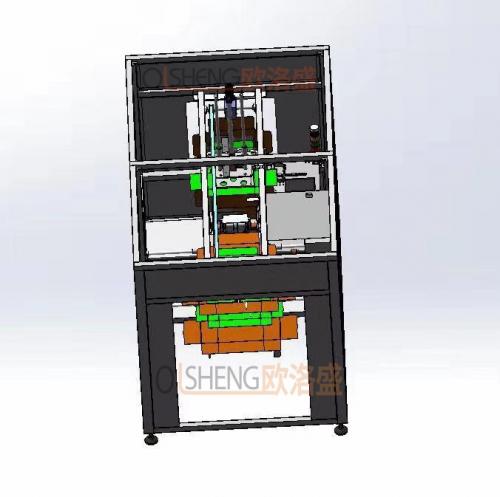 自动飞机盒折盒机3D图